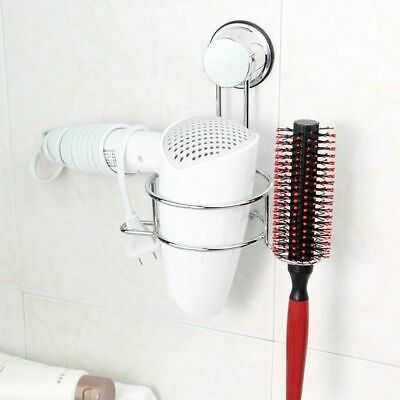 Hairdryer Wall Shelf Stainless Steel Holder Suction Cup Hairdryer Rack Newest