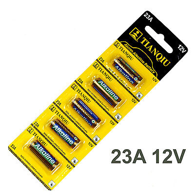 NEW Pack of 5 23A A23 LR23A V23GA AG23 12V tianqiu alkaline battery