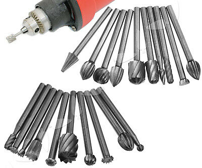 20Pcs 3mm Tungsten Head Carbide Burrs For Rotary Drill Die Grinder Carving Bit
