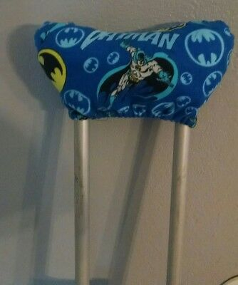 Batman Crutch Pads Underarm Cushion Covers Soft Cushioning Pillows DC Super Hero