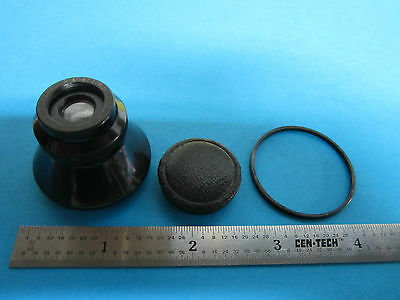Rare Microscope Objective Verres Carl Zeiss Jena Allemagne Planaire 4.5x 3.5 cm