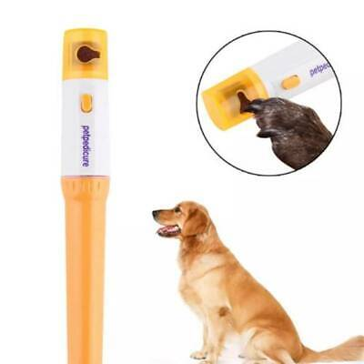 Pet Dog Cat Nail Trimmer Grooming Tool Care Grinder Electric Clipper Kit NEW