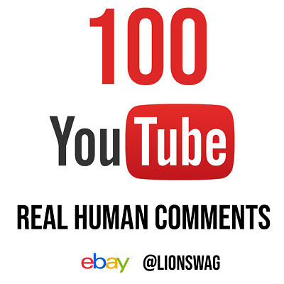 100 YouTube comments Real Human & HQ