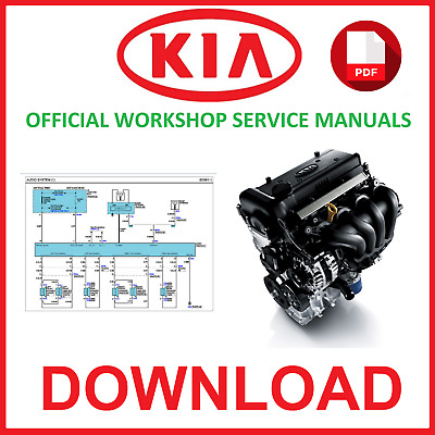 Kia Official Workshop Service Repair Manuals Pdf Downloads