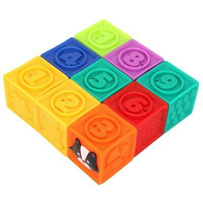 Baby Toddler Building Blocks Soft Squeeze Stack PVC Toy Educational HOT SALE
