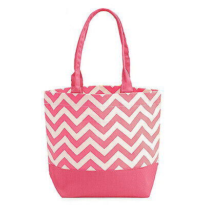 Premium Tote Bag Carry All Chevron Stripe Long Strap