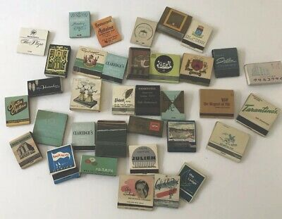 30 X Vintage Match boxes / Match books -  Hotel /Restaurant themed 1950'  - 60's