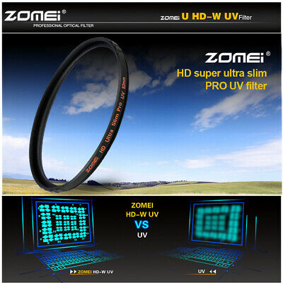 52/58/67/72/77/82mm Ultra Slim HD High Definition UV Filter Lens Protector zomei