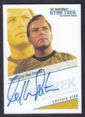 "Star Trek Quotable Tos Autograph  William Shatner As Captain Kirk Qa1 ""Space.."