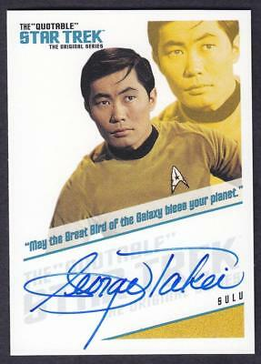 """Star Trek Quotable Tos Autograph  George Takei As Sulu Qa3 """"May The..."""