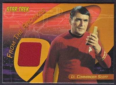 Star Trek Quotable Tos  Scotty Album Exclusive Costume Card C2