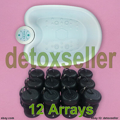Ion Ionic Detox Foot Bath Spa Cell Cleanse System &Tub Detox Removal 12 Arrays