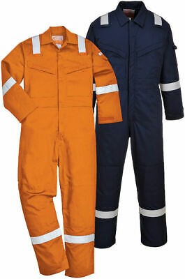 Portwest Padded Flame Resistant Antistatic Coverall Overall Boilersuit FR52
