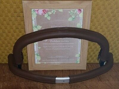 Bugaboo CAMELEON 1 2 faux leather handle bar bumper COVER ONLY Brown CURVED