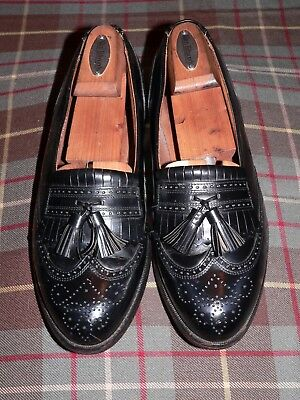 6d397c99e33 NORDSTROM BLACK   Brown Leather Tassel Slip on Two Tone Loafer Shoes ...