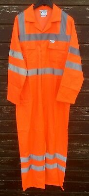 "SALE Superb Hi Quality/Hi Viz/Hi Vis Orange Boilersuit Overalls 124R / 49"" Chest"