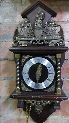 Antique Dutch Feintechnik Style German Movement Wall Clock Decorative - Restorer