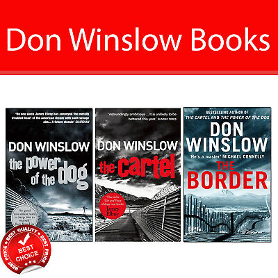 Don Winslow 3 Books Collection Pack set The Power of the Dog,The Cartel,Border