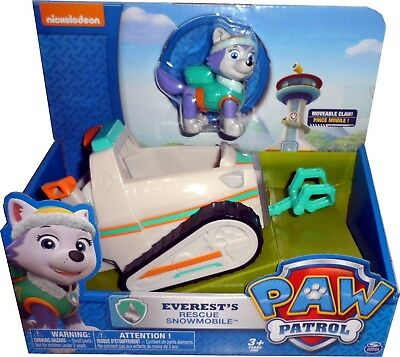 Paw Patrol Everest's Rescue Snowmobile *bnib* Spin Master Figure + Vehicle