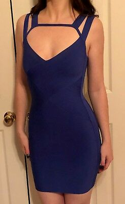 2236c7a1d0 GUESS BY MARCIANO Blue Bandage Dress