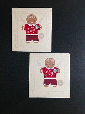Canada & Usa  Starbucks Ginger Gift Card -----  Lot Of 2 Pcs. ----- New