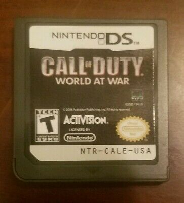 Call of Duty: World at War Nintendo DS, 2008 Authentic Tested Working Game Only