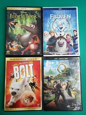 Disney Bundle Lot The Jungle Book Beauty And The Beast Bolt Oz The Great And...
