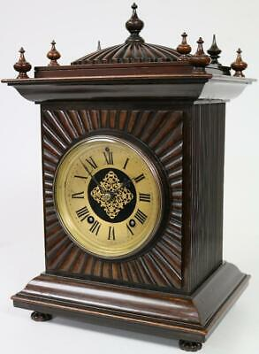 Antique Quarter Striking Rosewood Bracket Clock Fine 8Day Ting Tang Mantel Clock