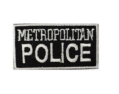 Metropolitan Police Logo Embroidered Patch Sew/ Iron-on Patch Costume Badge