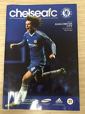 Chelsea Vs Manchester City Football Programme 20th March 2011.