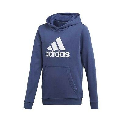 adidas boys blue hoodie with logo. Hoody. Sweat top. Various sizes!