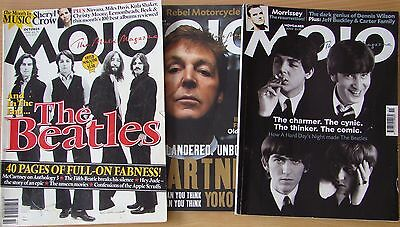 ♫ THE BEATLES  3 great MOJO magazines  OOP - lot 22 ♫