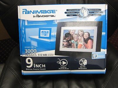Panimage 9 Inch Digital Photo Frame 3000 Images 512 Mb Free Shipping