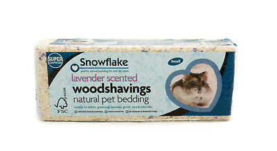 2 X Snowflake Woodshavings Lavender Scented - Small DAMAGED PACKAGING