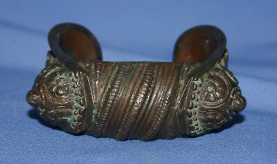 Antique Greek fertility hand made bronze bracelet