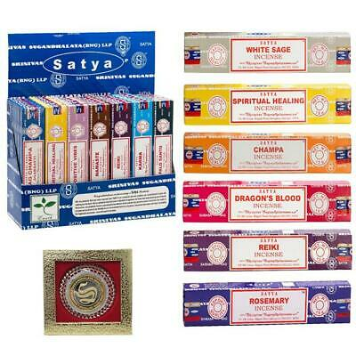 Satya Original Certified Nag Champa Incense Sticks Hand Made In India 30+ Scents