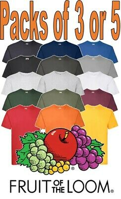 Fruit of the Loom MENS Super Premium T-Shirts 100% Cotton MULTIPACK SIZES S-5XL