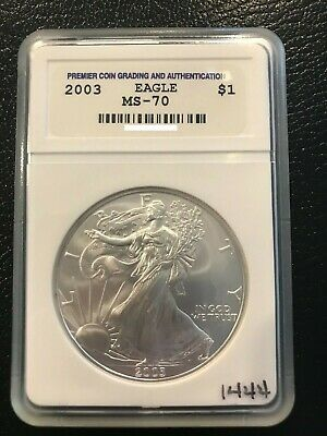 2003 Beautiful 1 oz American Silver Eagle Perfectly Graded