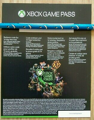 Xbox Game Pass, 14 Day Trial Subscription Code, Xbox One 360