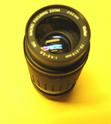 Vivitar 70-210mm F:4.5-5.6 Macro Focusing Zoom lens for Canon FD  manual SLR.
