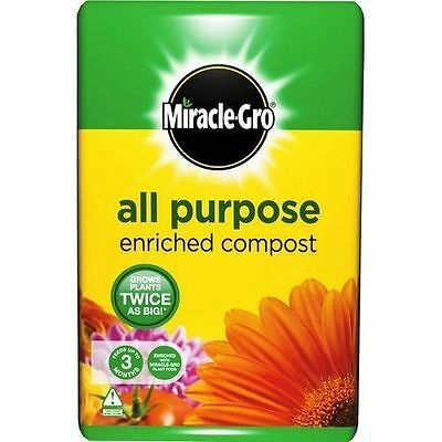 10 x Miracle-Gro All Purpose Garden Compost 50 Litres Planting Soil