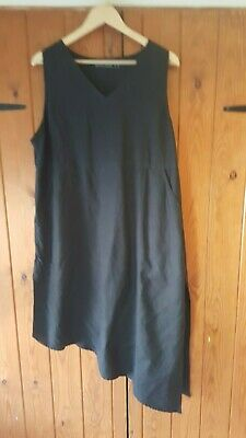 Gudrun Sjoden Black pinefore dress XL