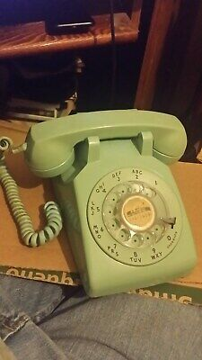 Vintage 1950's Western Electric Dial 500 Blue Green Phone