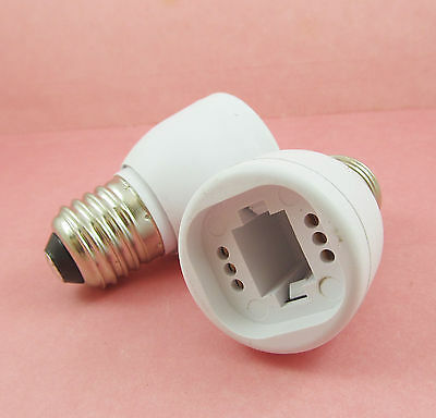 E27 to G24 Socket Base LED Halogen CFL Light Bulb Lamp Adapter Converter Holder
