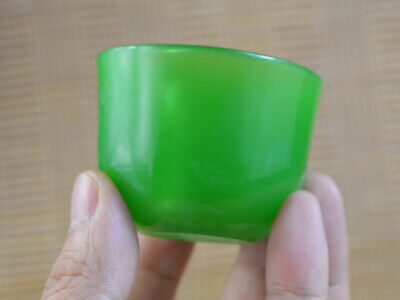 precious Natural Jade Tea Bowl Cup Decorated Old Mascots Handmade Collection Top