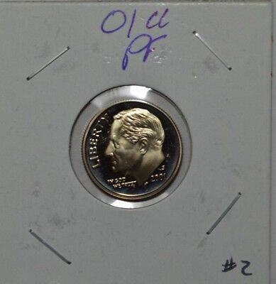 2001-s clad proof Roosevelt dime nice cameo #2