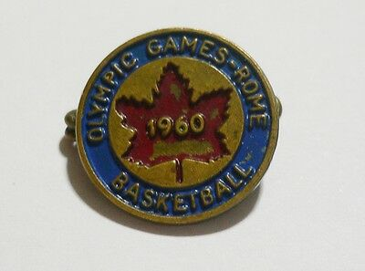 1960 Olympic Games Rome Pre-Olympic Basketball Tournament Canada Team Pin Badge