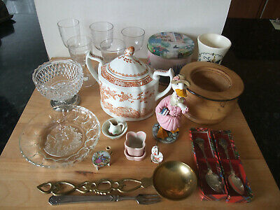 Job Lot of All Sorts Mixed Items – Glass, China, Wood, and Other