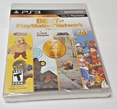 BEST OF PLAYSTATION NETWORK PS3 NEW SEALED US ENGLISH COVER & BACK from Europe
