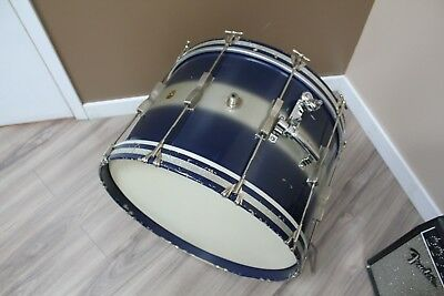 """1960's Ludwig Club Date Blue/Silver 22"""" Bass Drum (No Serial)"""